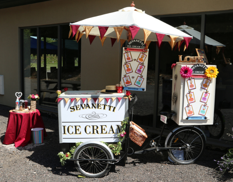 alt=ice cream trike with bunting